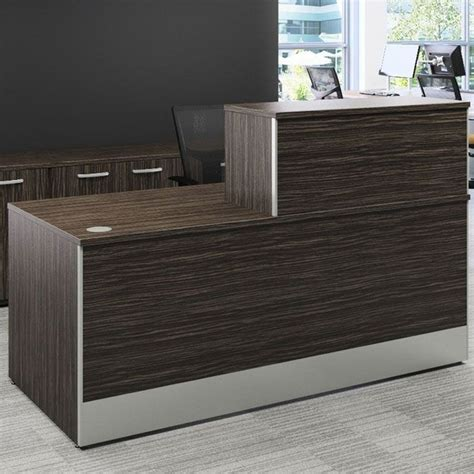 reception desk sizes reception desk with top box in various sizes