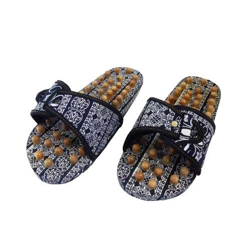 Deal Sandal Kayu Terapi Pijat Sendal Akupuntur Kesehatan Selop Slop sandal terapi motif batik elbarico toko aman
