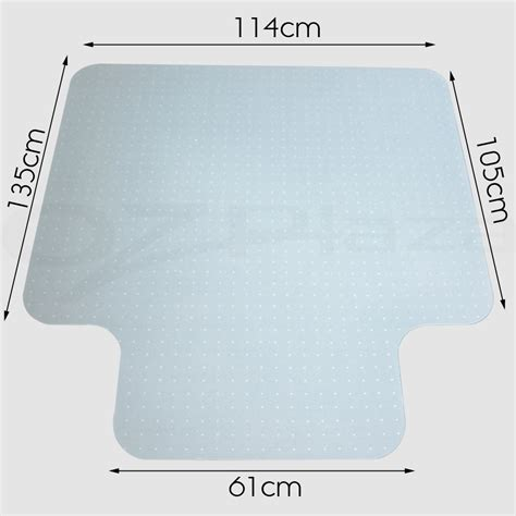 carpet floor office computer work chair mat vinyl protector   mm ebay