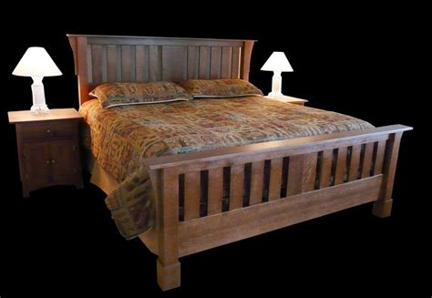 mission style bed handmade craftsman style bed by misty mountain furniture