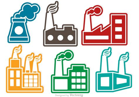 factory icon download free icons colorful factory vector icons download free vector art