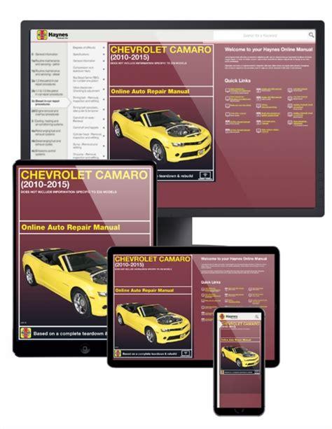 hayes car manuals 2001 chevrolet camaro free book repair manuals chevrolet camaro online service manual 2010 2015