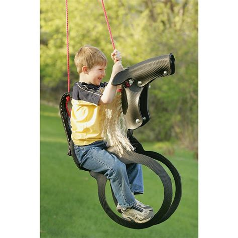 tyre swing horse horse tire swing 96631 riding toys at sportsman s guide