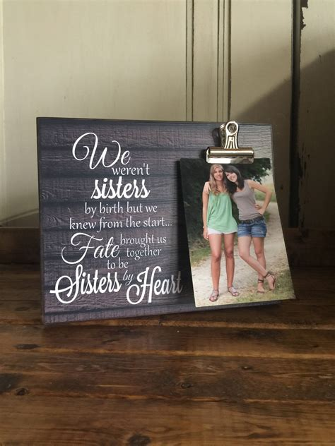 Personalized Picture Frame Gift For Sister Gift For Best