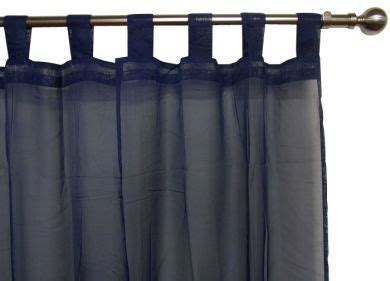 navy voile curtains navy voile curtain tab top 120x213cm new