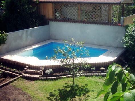 Pool Im Garten Selber Bauen by Pool Im Kleinen Garten Selber Bauen Gartenhaus Bauen
