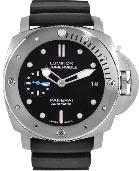 Panerai Submersible Silver Black buy panerai luminor submersible titanium pam01305