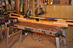 ski tuning bench plans wax room set up cross country ski technique