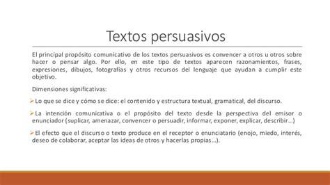 oraciones con persuasiva continuaci 243 n textos persuasivos