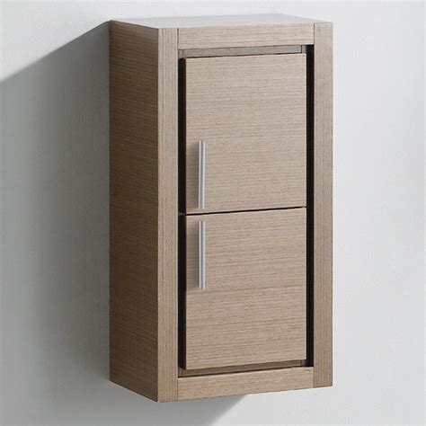bathroom linen side cabinet fresca gray oak bathroom linen side cabinet w 2 doors