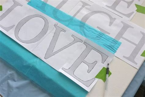 Letter Transfer Paper diy and crafts word and lettering on
