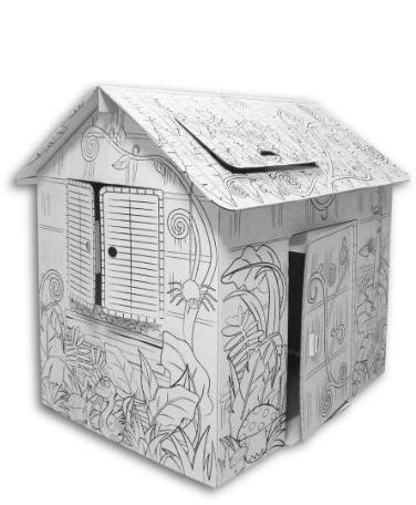 cardboard coloring house cardboard house color and play sissiworld mums