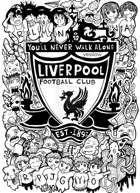 Doodle Liverpool Fc By Yessiow On Deviantart Liverpool Colouring Pages