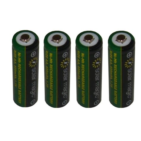 aa rechargeable batteries for solar lights solar magic solar light batteries aa rechargeable 4pk smb4