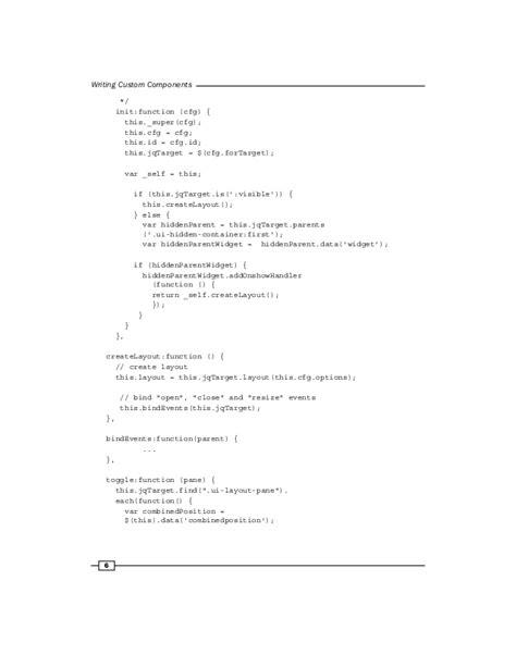 layout events primefaces custom primefaces components