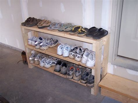 shoe storage in garage shoe rack in garage idea maybe el hubs can make it