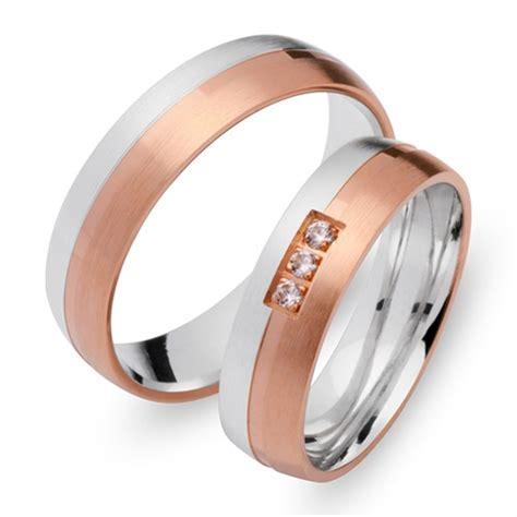 Eheringe 750er Gold by Eheringe 750er Rot Weissgold 3 Diamanten Ehe0094 7s