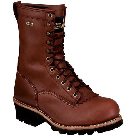 golden retriever logger boots s 10 quot golden retriever 174 waterproof vibram logger work boots with steel toe