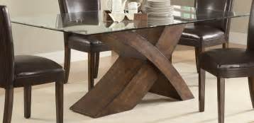 table round glass dining with wooden base breakfast nook