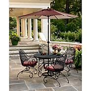 sears wrought iron patio furniture green stanton 5 pc wrought iron dining set at sears
