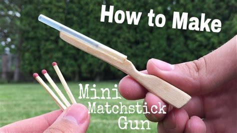 How To Make A Mini Cannon Out Of Paper - how to make the world s smallest rifle that shoots out