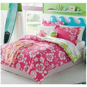 amazon com pink white hawaiian hibiscus girls twin