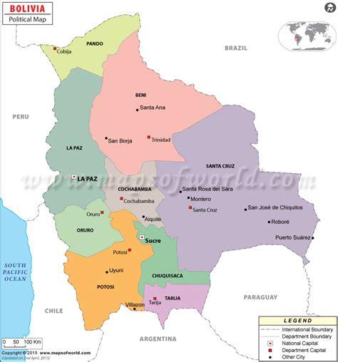 map of bolivia political map of bolivia bolivia departments map