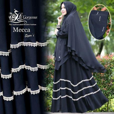 Madina Syar I Grey Intanaka Mecca Black Baju Muslim Gamis Modern