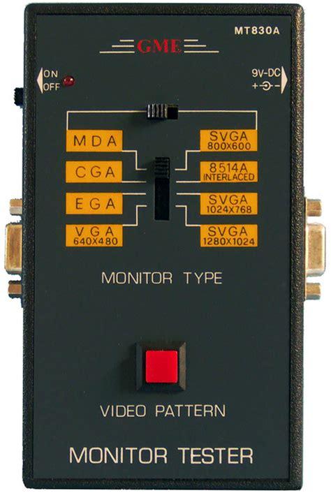 Test Pattern Generator Mac | mt 160 handheld pattern generator pc or mac monitor tester