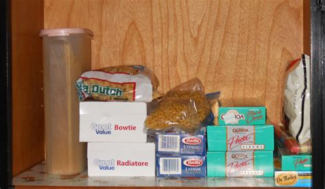 before photo of pasta shelf spiro company