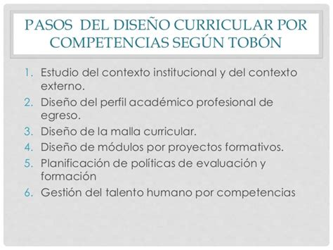 Diseã O Curricular Por Competencias Dise 241 O Curricular Por Competencias