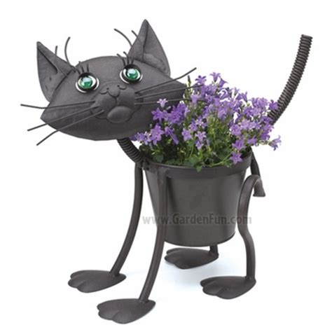 Cat Planter by Garden Cat Metal Planter Only 36 99 At Garden