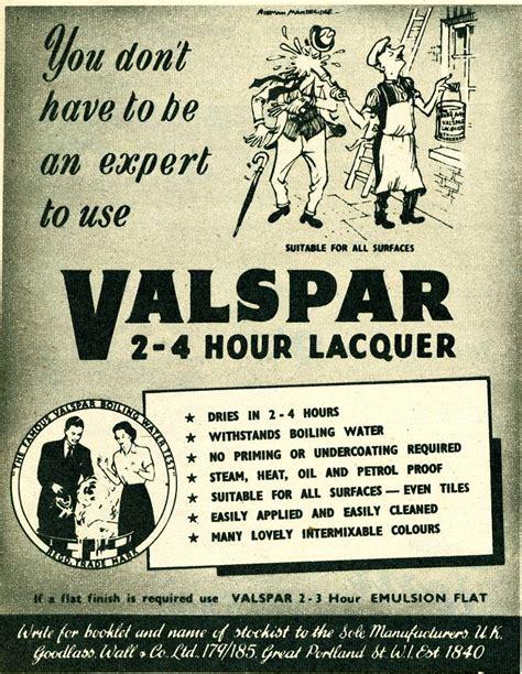 valspar uk advert museum valspar lacquer