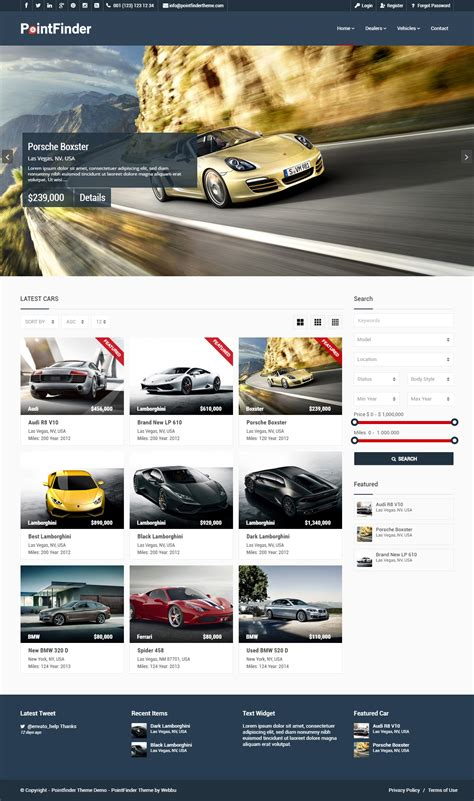 live car themes best responsive wordpress cars and car dealership themes