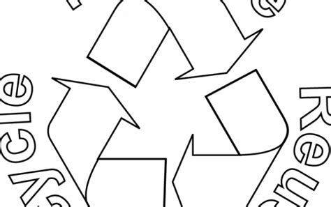 click the recycle symbol coloring pages coloring pages