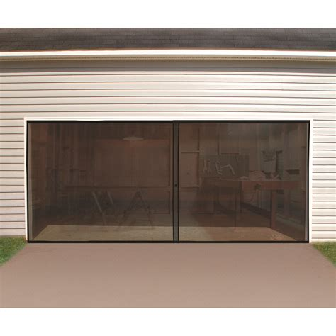 two door garage double garage screen door