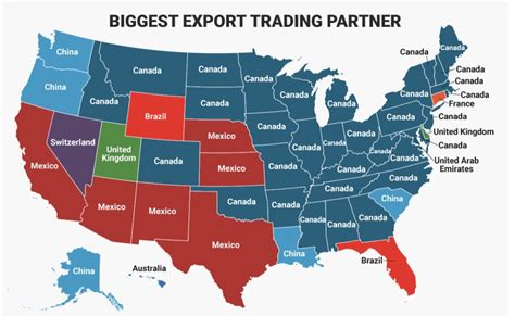 maps show   states biggest import  export