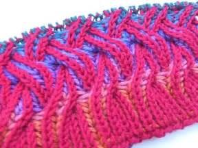 two color brioche stitch knit with elizzza rainbow cowl two color brioche