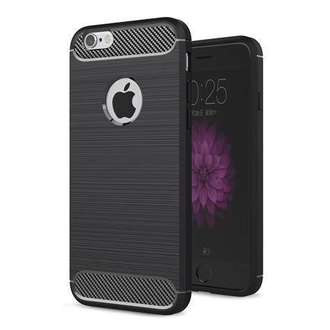 Cover Iphone 6 6s Carbon Fiber Silicone Tpu Back Soft apple iphone 6 6s tpu carbon fiber optik brushed