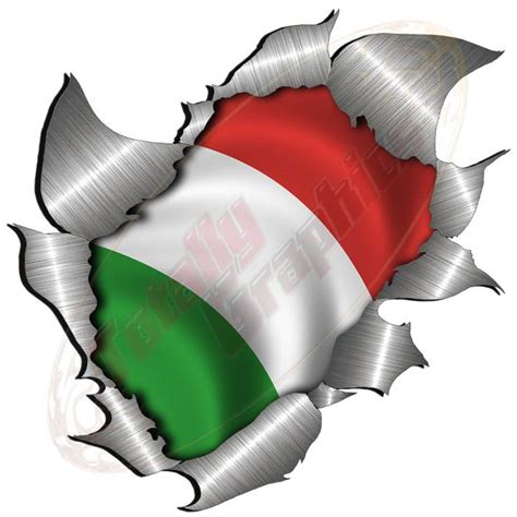 Italien Sticker Vespa by Large Metal Rip Torn Italian Italy Flag Sticker Jdm Race