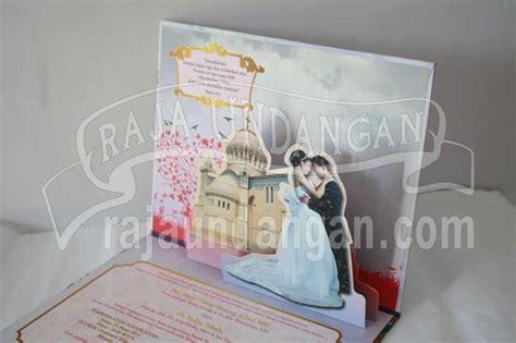 desain undangan pernikahan pop up undangan pernikahan hardcover pop up landscape paul dan