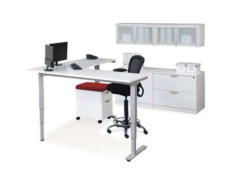 Office Desk Adjustable Height Classic Corner Electric Height Adjustable Table