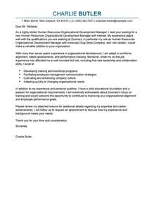 Development Cover Letter by Organizational Development Cover Letter Exles Human Resources Cover Letter Sles Livecareer