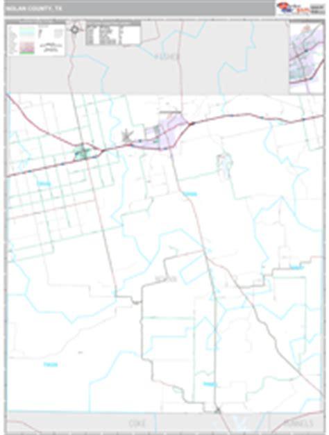 nolan county texas map nolan county tx wall map premium style by marketmaps