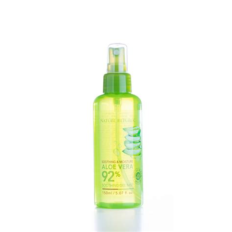 Nature Republic Aloe Vera 92 Soothing Gel Mist Original 20ml nature republic soothing moisture aloe vera toner care