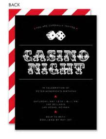 casino party invitations template best template collection