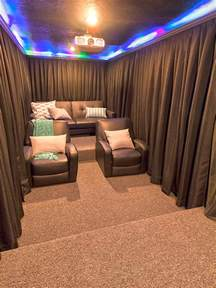 Home Theater Design Ideas Diy by A Diy Home Theater Room Hang Curtains Around Your Seats