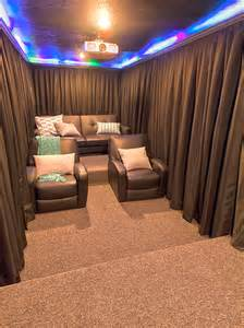 Diy Home Theater Small Room A Diy Home Theater Room Hang Curtains Around Your Seats