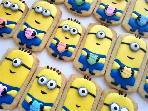 minion cookies how adorable minion vday cookies dessert
