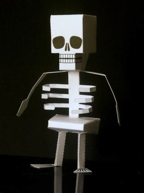 How To Make A Skeleton Out Of Paper - a papercraft skeleton that likes to stand around neatorama